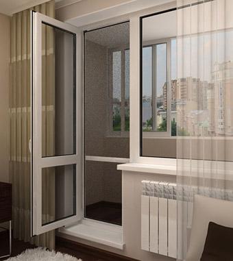 Балконные распашные двери